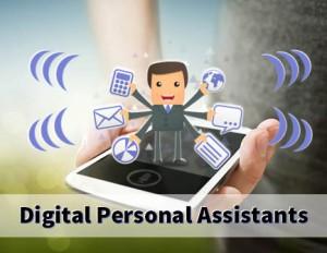 Digital Personal Assistant Cartoon